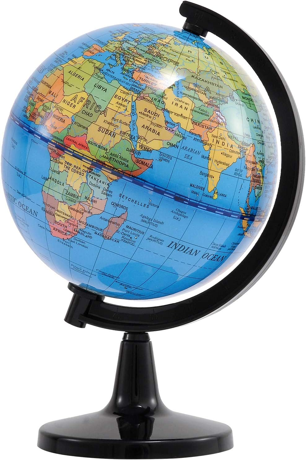 Wizdar 4'' World Globe for Kids Learning, Educational Rotating World Map Globes Mini Size Decorative Earth Children Globe for Classroom Geography Teaching, Desk & Office Decoration-4 inch