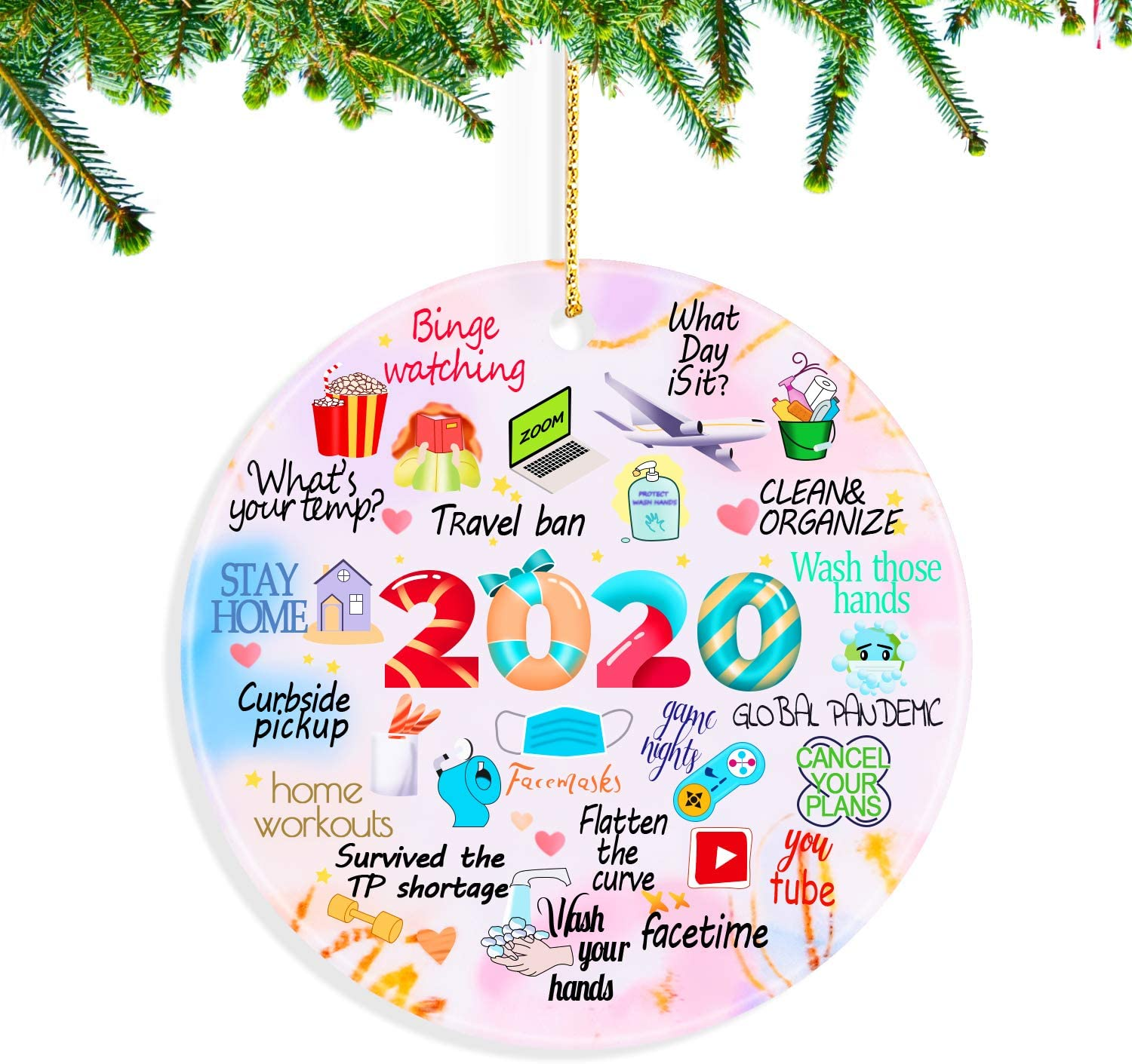 Kexle Christmas Ornaments 2020, Christmas Ornaments 2020 Christmas Ornament Quarantine Christmas Ornaments Clearance Funny Home Decorations - Gifts for Christmas