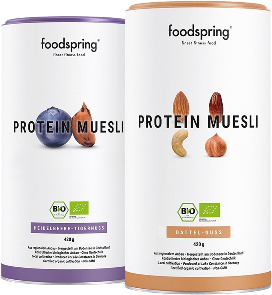 foodspring Muesli Proteico, 420g, Sabor Dátiles-Frutos secos ...