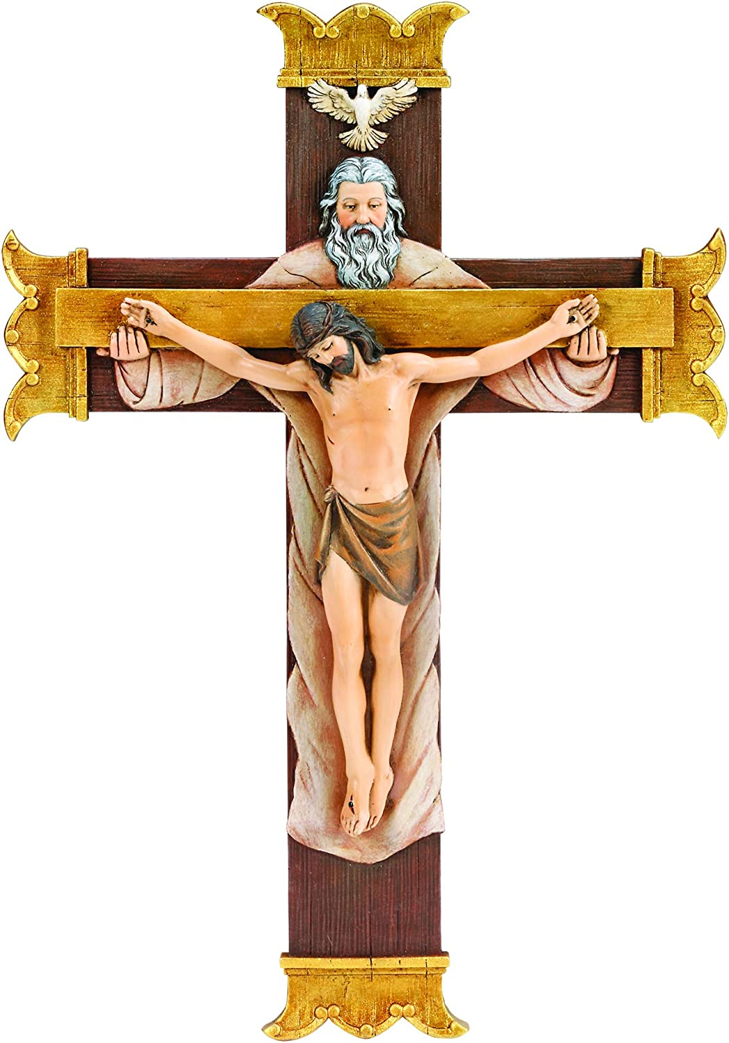 """Joseph's Studio by Roman - Collection, 10.25"""" H Holy Trinity Crucifix, Made from Resin, High Level of Craftsmanship and Attention to Detail, Durable and Long Lasting"""