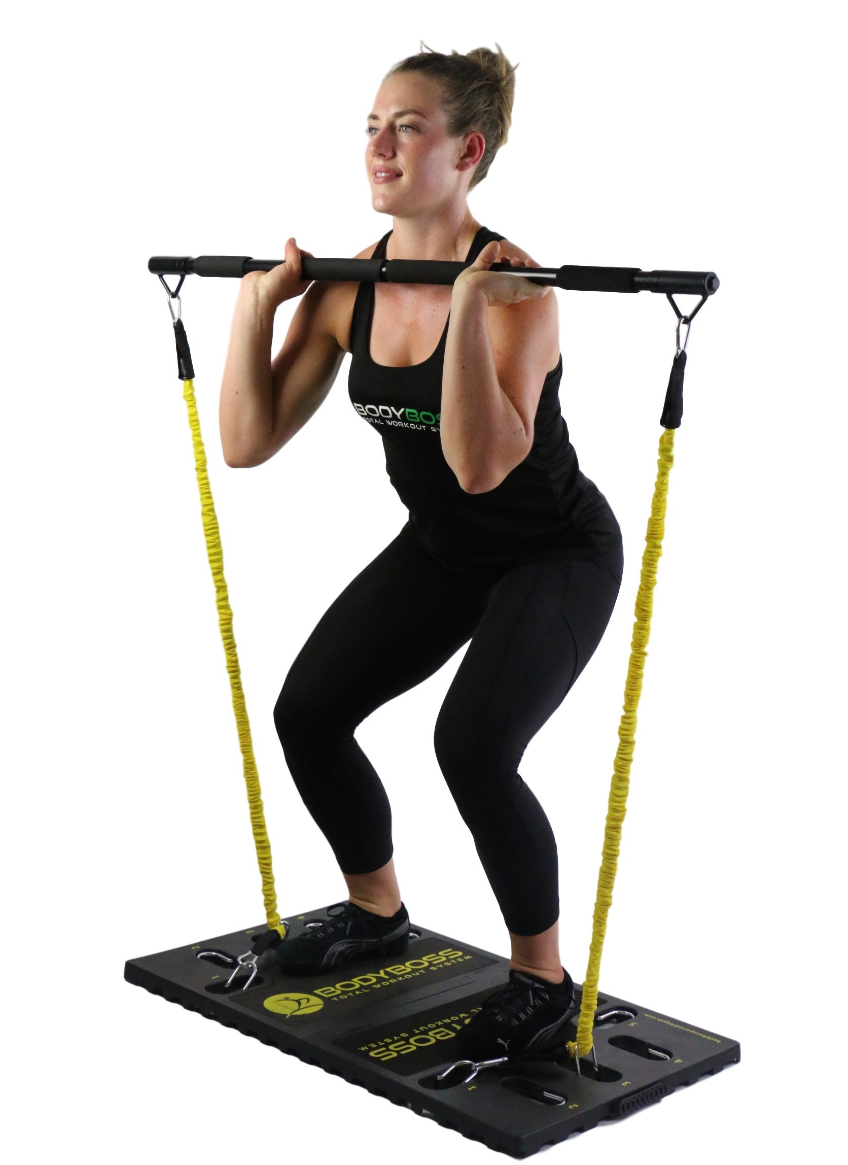 Resistance Bands Full Portable Home Gym Workout Package BodyBoss 2.0