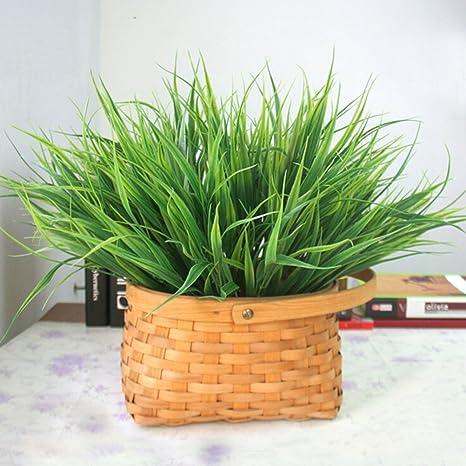 Artificial Fake Plastic Green Grass Plant Flowers Office Home Garden Decor/_XH