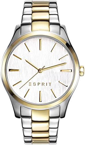 Esprit Damen-Armbanduhr Audry Two Tone Analog Quarz Edelstahl ES108132007