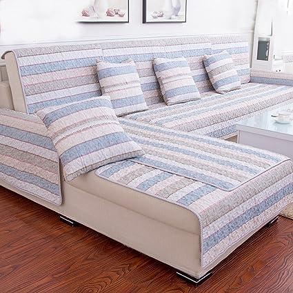 JIEJING Cotton Sofa Covers,Four Seasons Fabric Living Room Simple Modern  Sofa Slipcover Anti