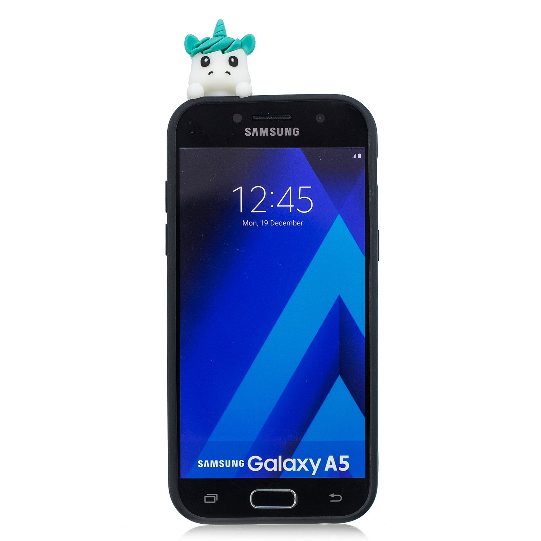 a3e5ae460f8 CXTcase Funda Samsung A5 2017 Silicona 3D Unicornio Animados Carcasas Case  Cover Flexible TPU Suave Gel Opaco Ultra Delgado Ultra Ligero Goma Caja ...