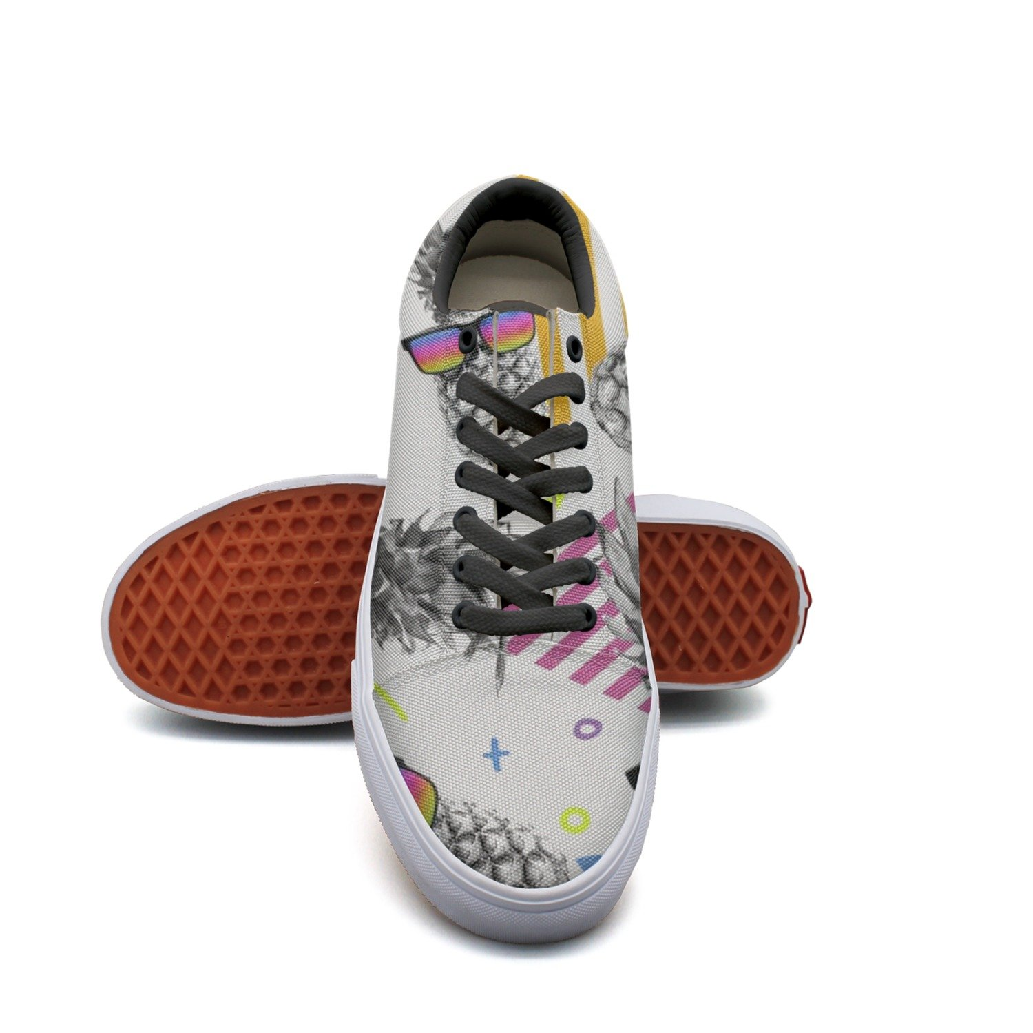 Awesome Style Pineapple With Vintage Eye Glasses Women¡s Casual Shoes Sneakers Flat Classic Nursing Gym