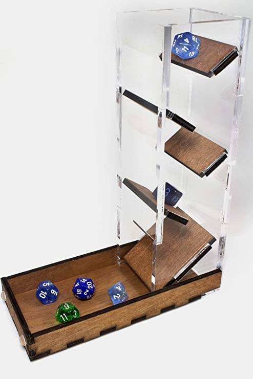Amazon Com Dice Tower Tray For Dice Games By C4labs Toys Games