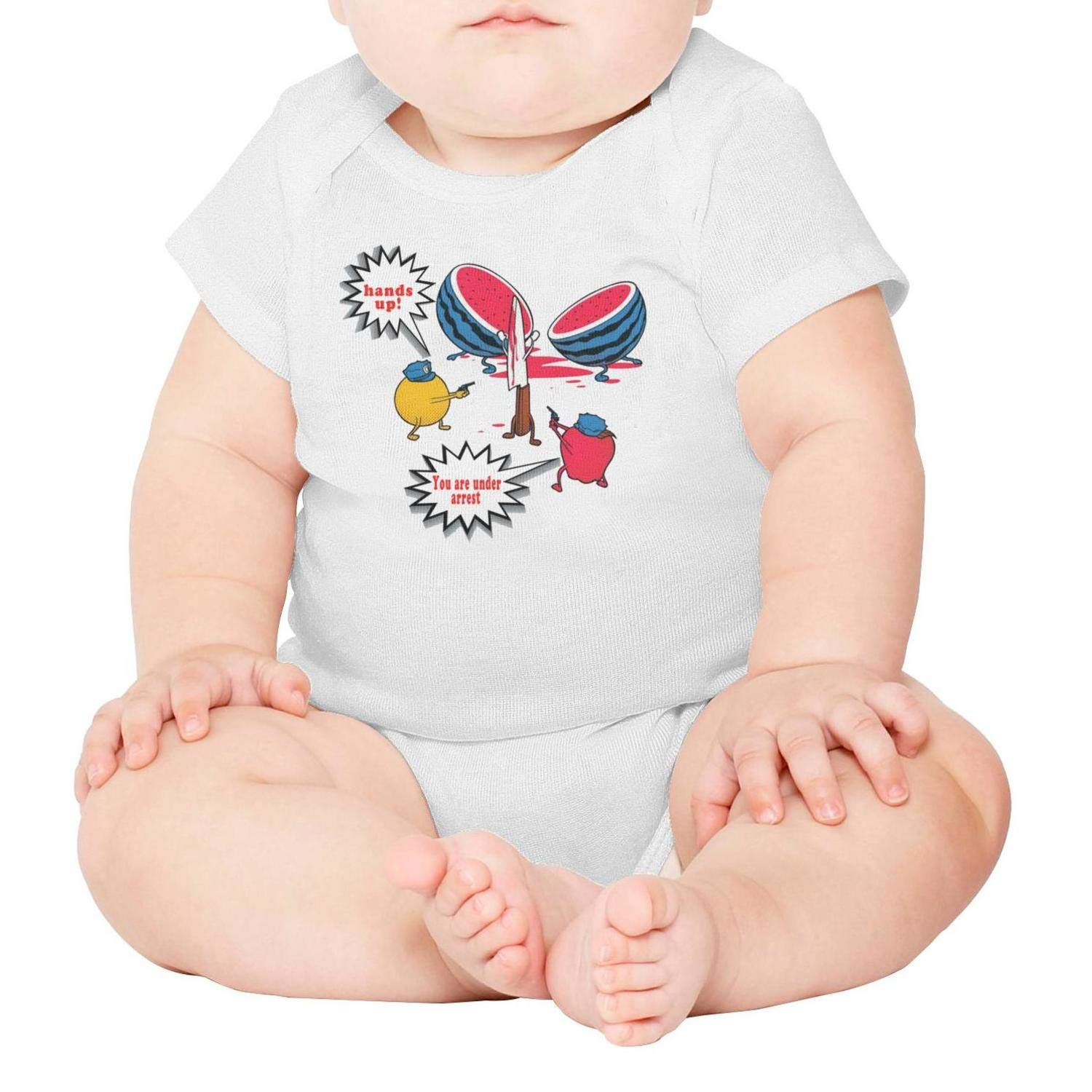 The knief Kill The Watermelon Short Sleeve Natural Organic Baby Onesie Outfits 0-3 Months for Infant Boys Girls