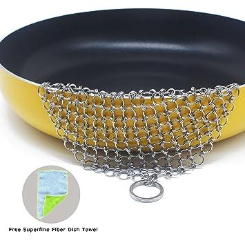 IACTIVE - Limpiador de calderas de hierro fundido para limpiar sartenes de hierro fundido, parrilla