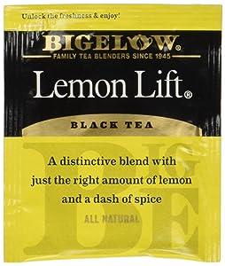 Bigelow Lemon Lift Black Tea Bags 28-Count Box (Pack of 1) Lemon Flavored Black Tea Naturally & Artificially Flavored