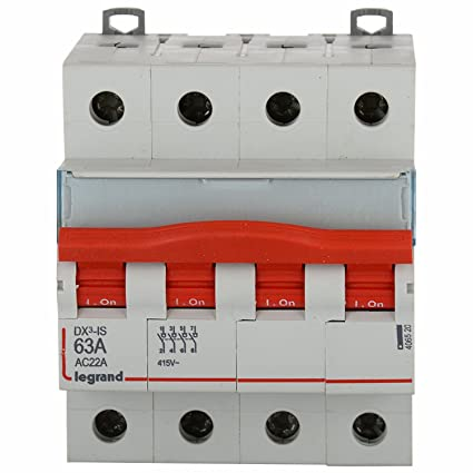 Legrand dx 3 63 amp 4 pole mcb isolator 406520 amazon home legrand dx 3 63 amp 4 pole mcb isolator 406520 asfbconference2016 Gallery