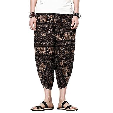 Amazon.com: INVACHI - Pantalones elásticos para hombre con ...