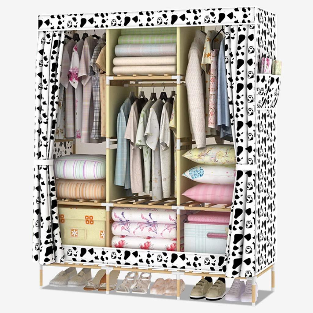 A Xiao Jian Cloth Wardrobe Easy Assembly Storage Clothes Locker Wardrobe Large Oxford Cloth Wardrobe (color   A)