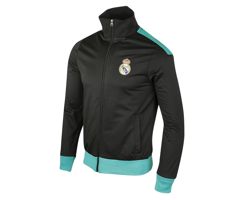Real Madrid RMA-SA-3600 N/B - Chaqueta con Cremallera para Hombre ...