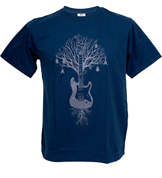 tshirtmystyle Hombres de la Guitarra árbol gráfico música Arte Banksy Hombre Camiseta: Amazon.es: Ropa y accesorios