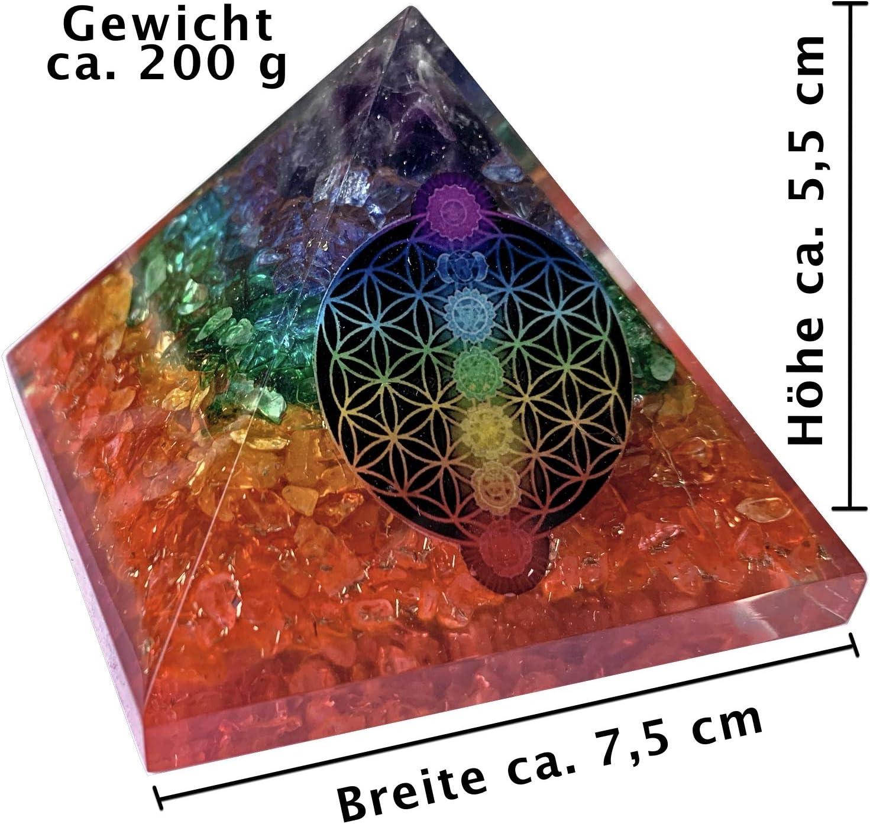 Orgonite Pyramide Citrin Kristall Energie Generator Emf Schutz Reiki Edelstein