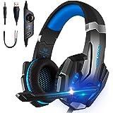 TXG Auriculares para Juegos, Auriculares con Cable, Auriculares para Jugadores,Auriculares para Juegos con Micrófono para PS4