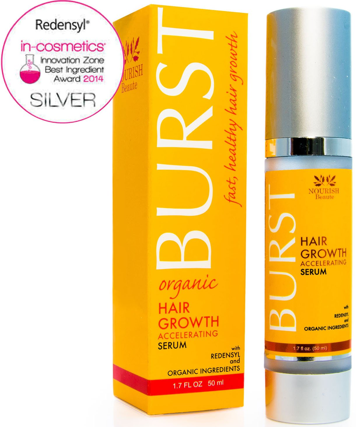 Nourish Beaute Hair Loss Treatment and Growth Serum - Stem-Cell Technology, DHT Blockers and Caffeine Stop Thinning Hair Fast - Proven Regrowth Product For Men and Women