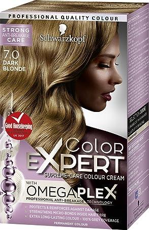 0e16657895 Schwarzkopf Color Expert Omegaplex Hair Dye, 7-0 Dark Blonde: Amazon.co.uk:  Beauty