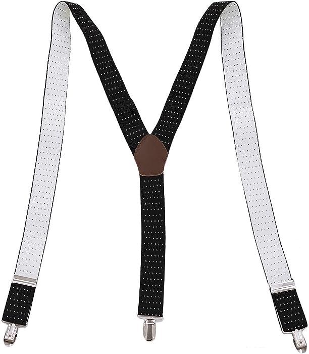 9a1aae5e8 Panegy - Tirantes de Pantalones Hombre Elásticos Ajustable V-Forma Diseño  Retro Ancho 3.5 cm