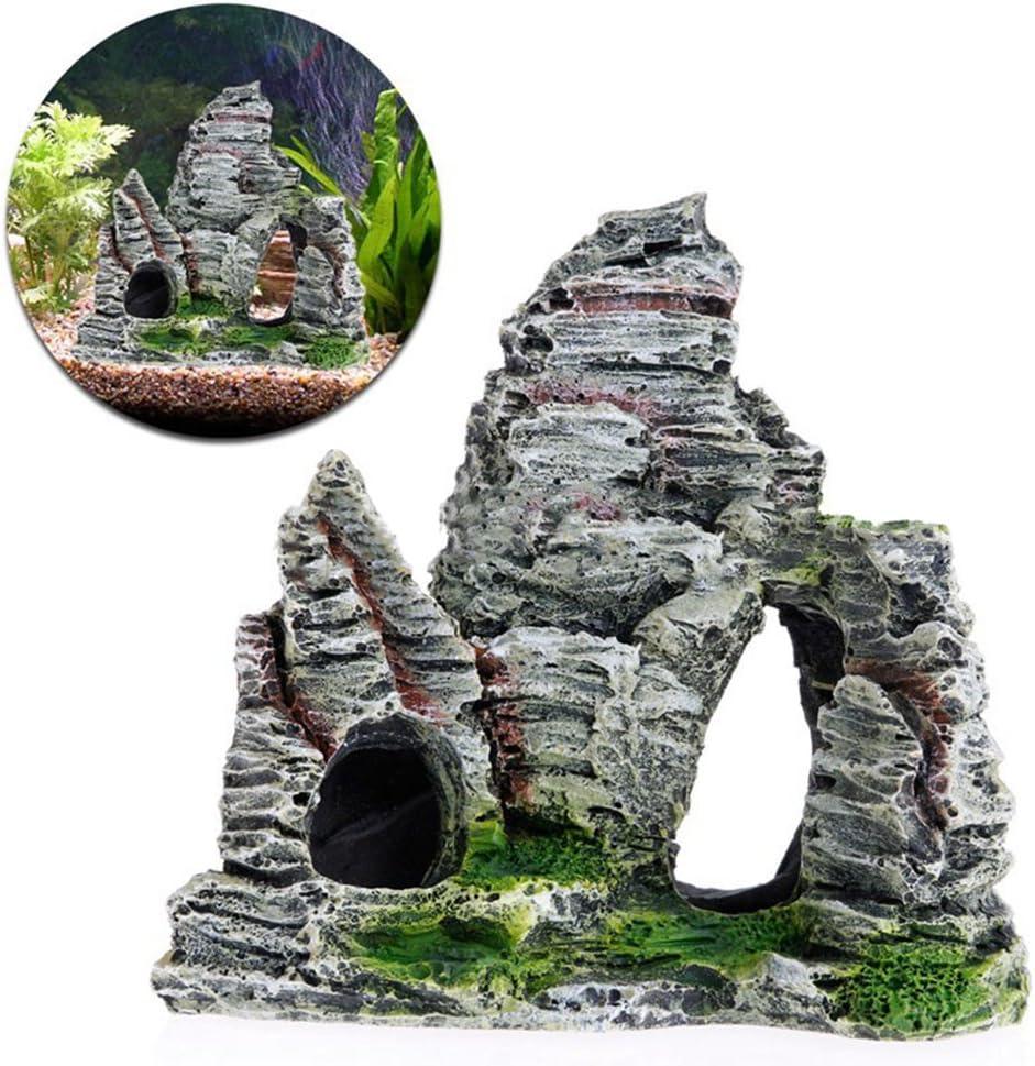 Ruikey 1/Miniatur-Landschaft Rockery Schloss mit Deko-DIY Garten zu Hause Outdoor mit gr/ün-Geschenk