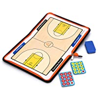 IGNPION Megnetic Football/Soccer/Basketball Tactics Board Coaching Equipment Foldable Strategy Board with Megnetic Markers and Eraser(NO Pen)- PU Leather Coach Board 48CM X 28CM