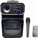 "Sistema de Sonido portátil Ruedas 8"" Altavoz Karaoke Inalámbrico portátil con micrófono Reproductor Recargable Radio FM…"