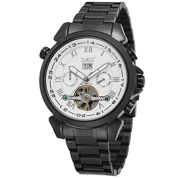 forsining Hombre automatic-self-wind Tourbillon Reloj de pulsera de acero inoxidable jag057 m4b2: Amazon.es: Relojes