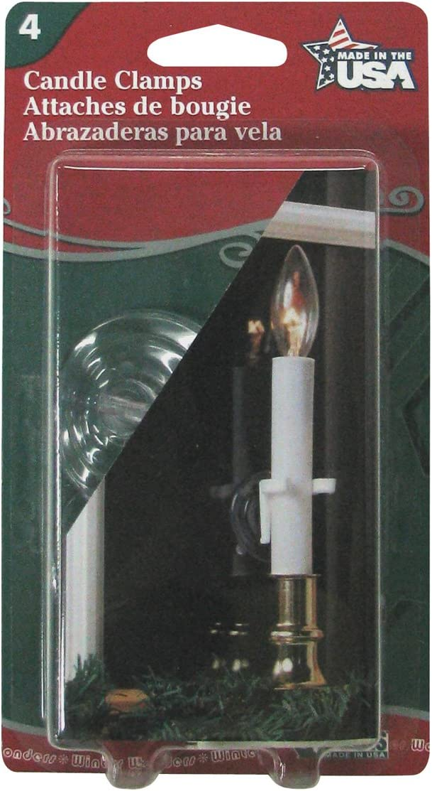 4-Pack Adams Christmas 1550-99-1040 Window Candle Clamps