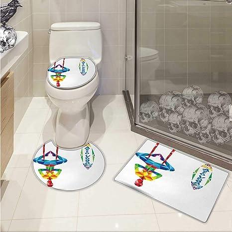 Amazon.com: Yoga Toilet mat Set Aerial Aero Anti-Gravity ...