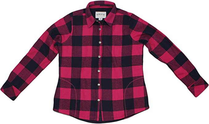 bf5e2d6437f Orvis Women s Fleece Lined Shirt Jacket at Amazon Women s Coats Shop