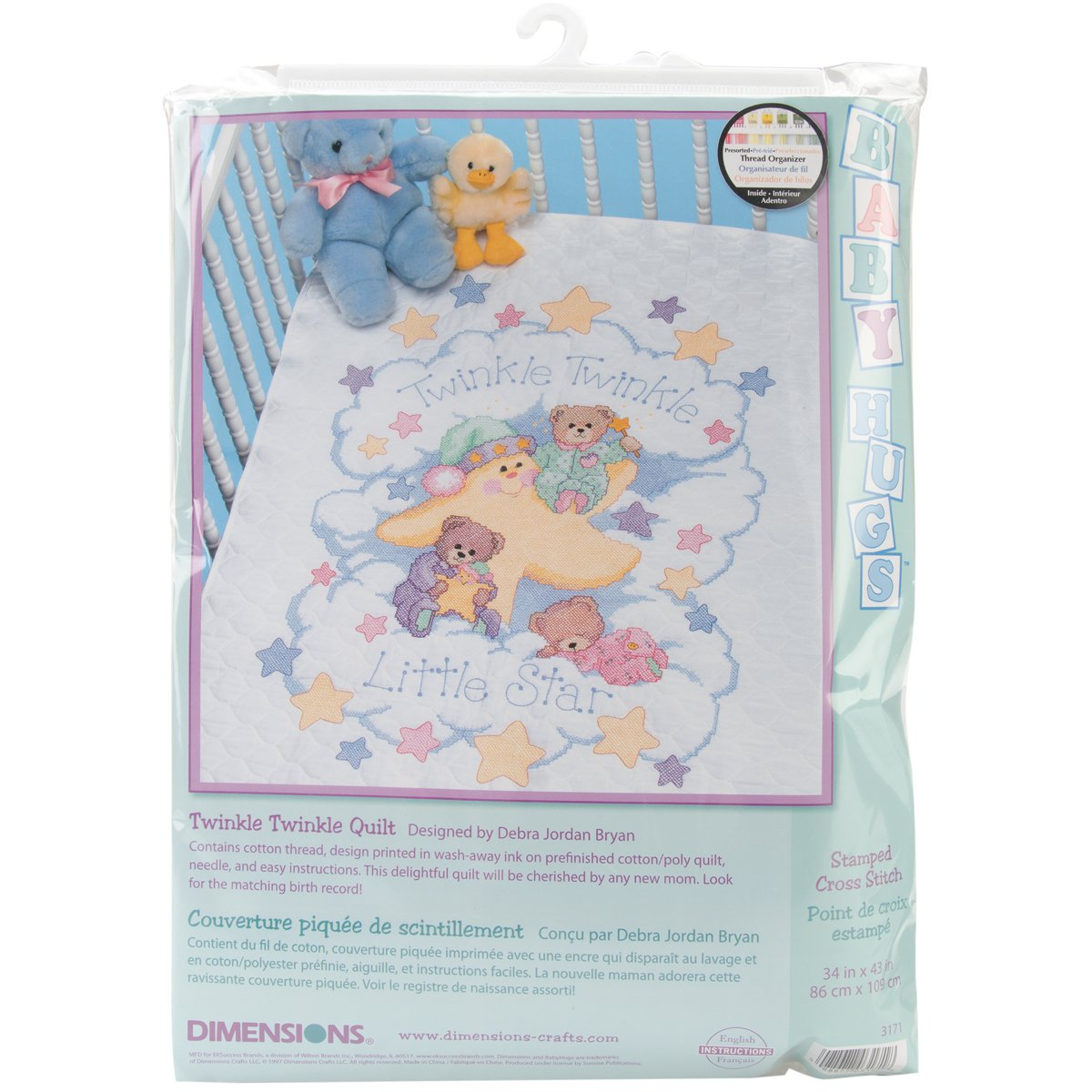 Brand New Twinkle Twinkle Quilt Stamped Cross Stitch Kit-34''''X43'''' Brand New by M1N4B6