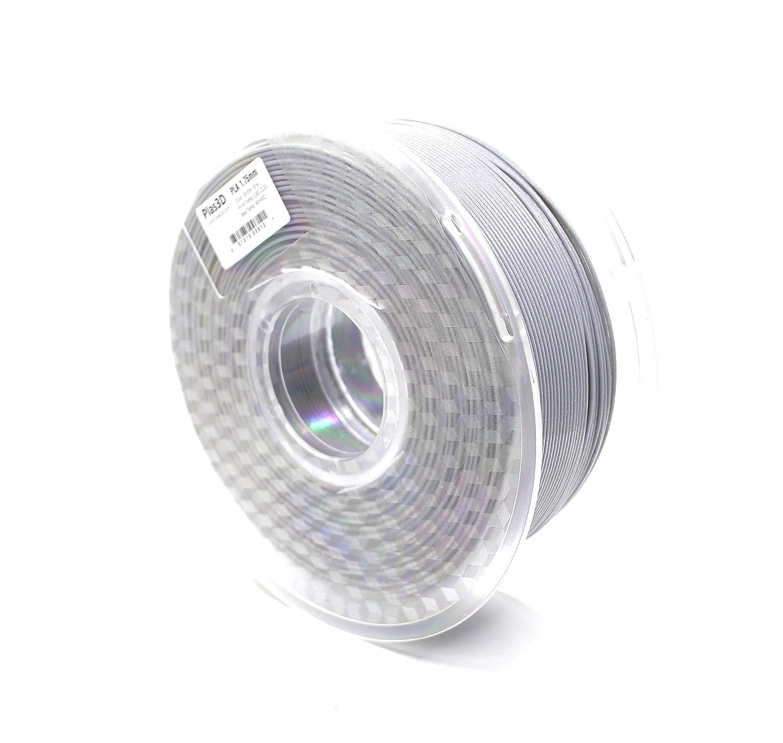 Filamento Plas3D PLA gris con purpurina 1,75 mm 1 kg, filamento ...