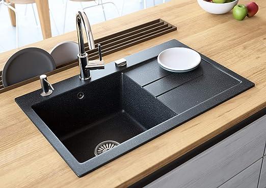 Black Kitchen Sink Lavello Luxor 100LT 31\