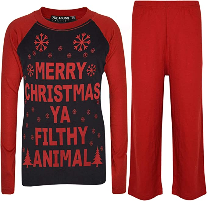 Kids Home Merry Christmas Ya Filthy Animal Cute Outfit Red Toddler T-Shirt