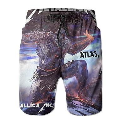 cd4978243a Amazon.com: Atlas Rise Metallica Men's Swim Trunks Quick Dry Summer Casual  Athletic Swimming Short: Clothing