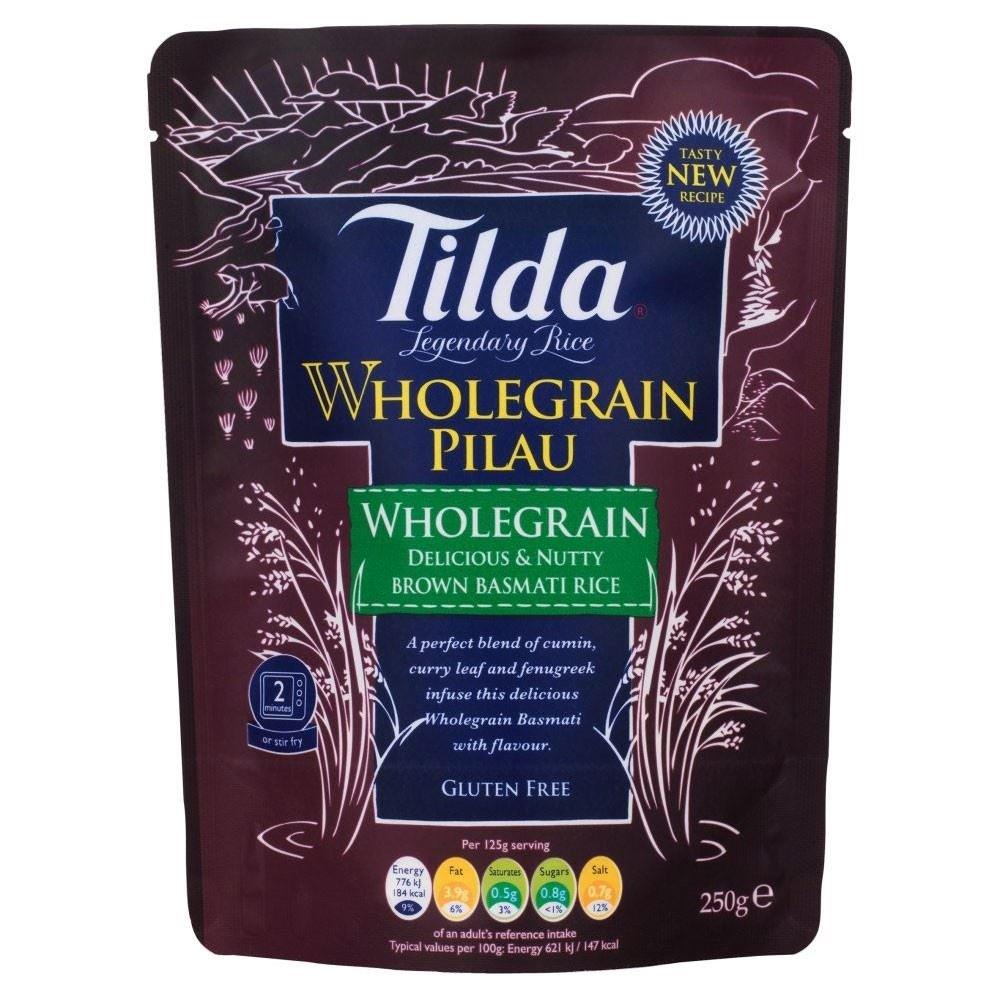 Tilda Steamed Brown Basmati Rice Wholegrain Pilau (250g)