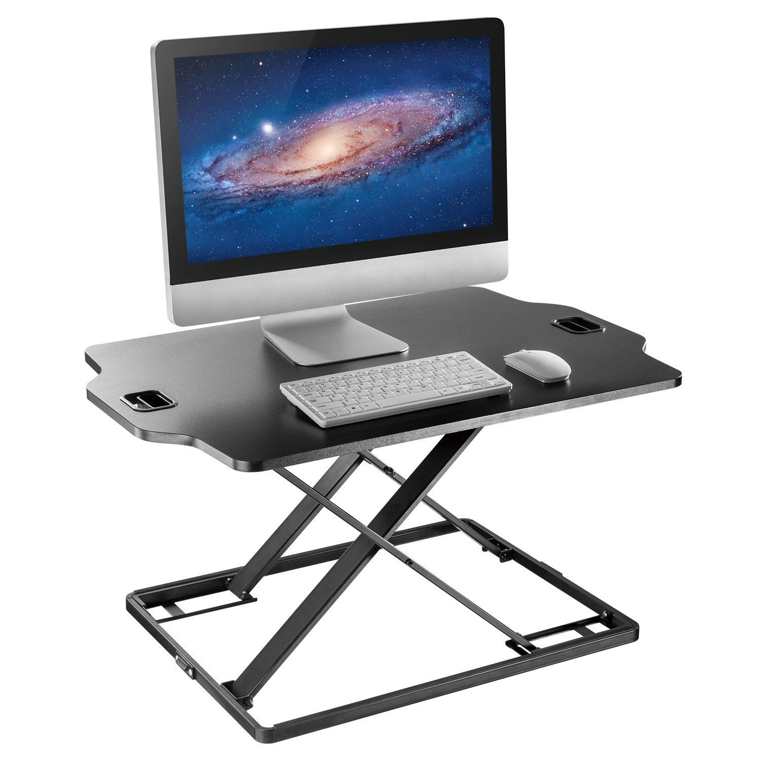 Standing Desk Converter - Height Adjustable Sit to Stand Up Desk, Economic Tabletop Workstation Monitor Riser, Lift Height from 1.6'' to 16''