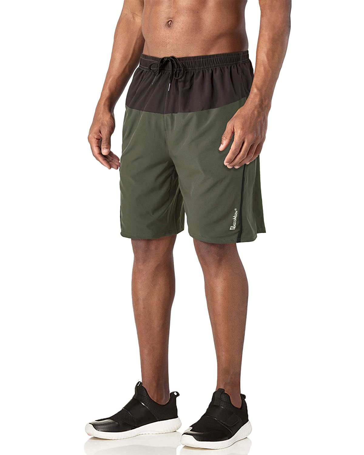 Jogging MAGCOMSEN Mens Running Shorts with Pockets Mesh Liner Quick Dry Shorts for Workout Hiking