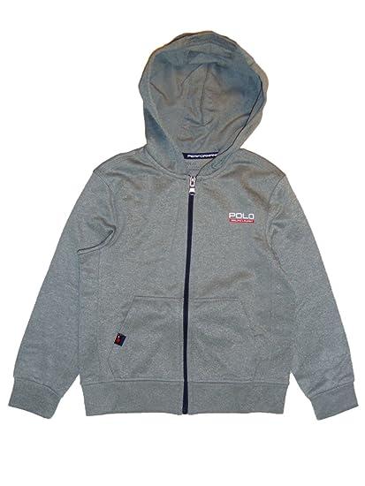 09650d97 Ralph Lauren Polo Boys Performance Hoodie Jacket Grey Age 5: Amazon.co.uk:  Clothing