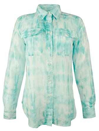 33ee7488 Ralph Lauren Women's Tie-Dye Button-Down Shirt at Amazon Women's Clothing  store: