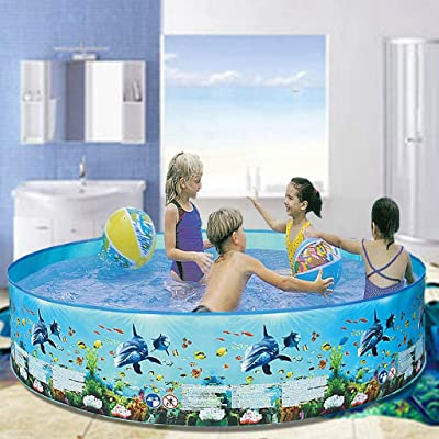 Family Swimming Pool, 48 inches Swim Pool Lounge Pool for Baby, Kiddie, Kids, Adult, Outdoor, Garden, Backyard, Summer Water Party (AS Show): Kitchen & Dining