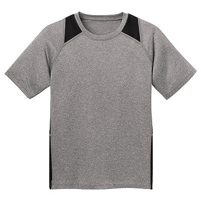 Sport-Tek Youth Fleece-Lined Colorblock Jacket> Black/White YST81