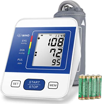 RobotsDeal Blood Pressure Monitor Upper Arm with Large LCD Display