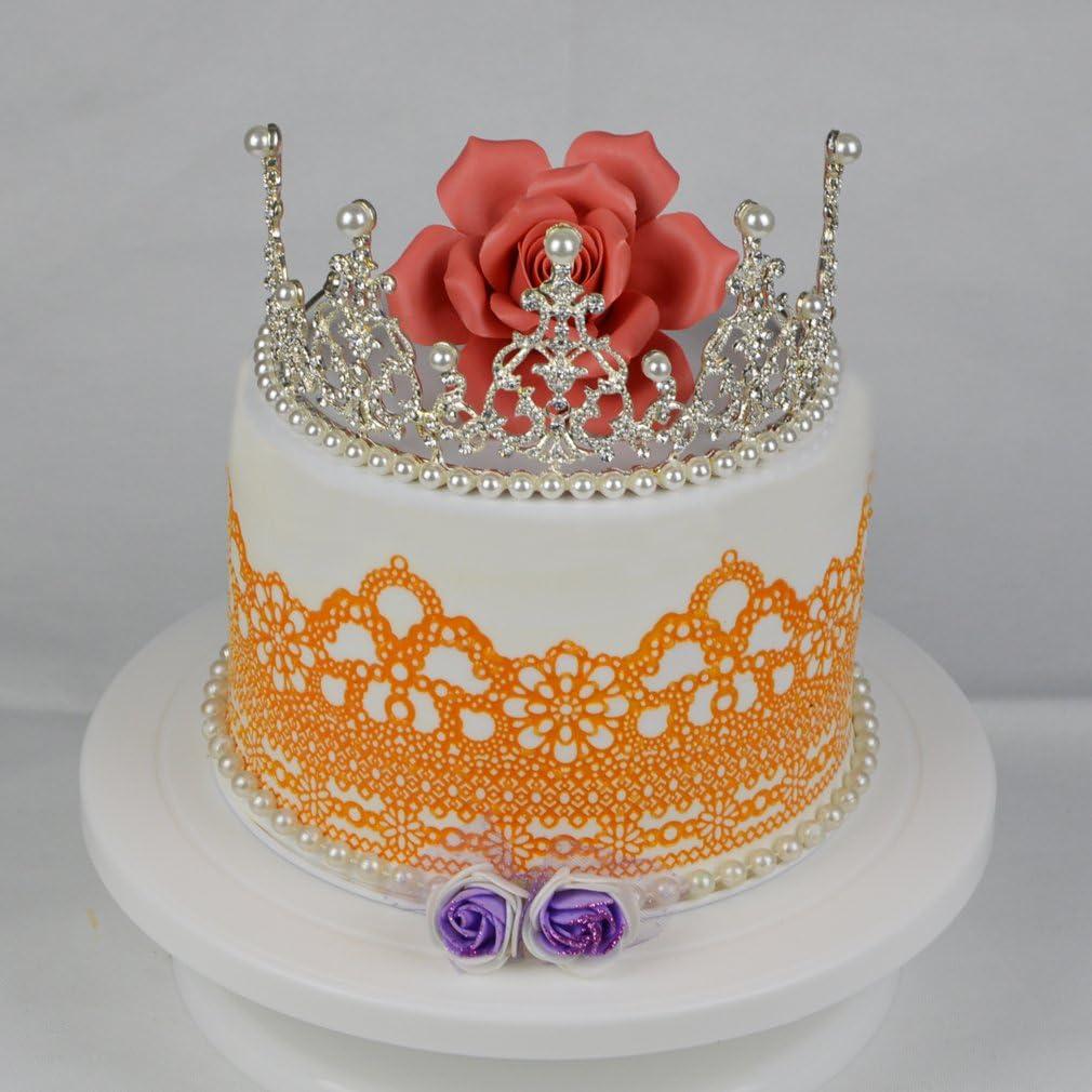Kailai Crown Cake Border Silicone Lace Mat Fondant Cake Decorating Mold Eco-Friendly DIY Bakeware Mold