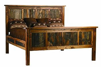 Rustic Wood Panel Bed (California King)
