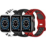 KOUUNN Sport Silicone Bands Compatible with Apple Watch Bands 38mm 40mm 41mm 42mm 44mm 45mm iWatch Series 7 6 SE 5 4 3 2 1 Br