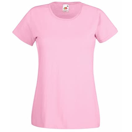 0eb32c35 Amazon.com: Fruit of the Loom Ladies/Womens Lady-Fit Valueweight ...