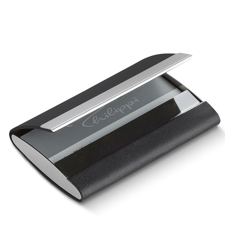 Philippi Giorgio Business Card Case 10 Centimeters Black Schwarz