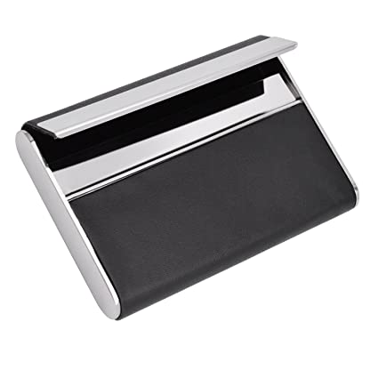 maxgear leather business card cases metal business card case professional name card holder slim stainless steel - Metal Business Card Case